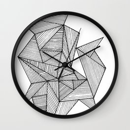 Black Lines Straight Wall Clock