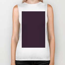 Simply Deep Eggplant Purple Biker Tank