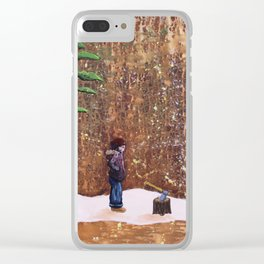 Someone Stole My Wood Clear iPhone Case