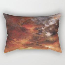 Windmill and the Sunset Sky Rectangular Pillow