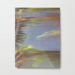 Glitch_art: Tropics_001 Metal Print