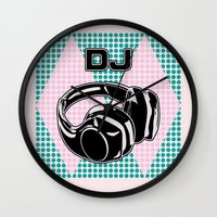dj Wall Clocks featuring DJ by Şemsa Bilge (Semsa Fashion)
