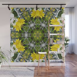 Kaleidoscope of showy St Johns Wort Wall Mural