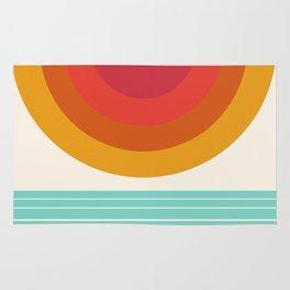 Totally Hot - 70s style retro throwback minimal sunshine beach socal cali 1970's Rug