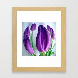Unique Floral Duvet Cover in Purple Framed Art Print