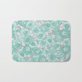 Retro Roses with lace Bath Mat