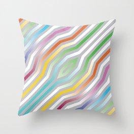 Symmetric diagonal stripes background 8 Throw Pillow