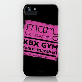 Mary the Machine iPhone Case