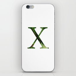 "Initial letter ""X"" iPhone Skin"