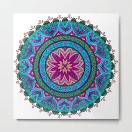 Meditation Mandala Metal Print