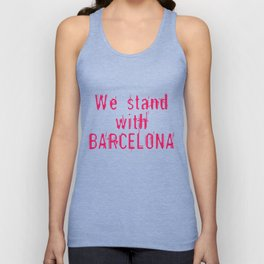We stand with Barcelona Unisex Tank Top