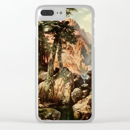 Moran, Thomas (1837-1926)  - Three wonderlands of the American West 1912 - Tolte Gorge, Colorad Clear iPhone Case