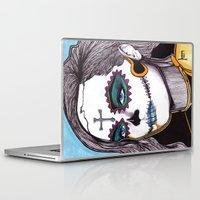 dia de los muertos Laptop & iPad Skins featuring Dia de los Muertos by Joseph Walrave