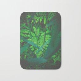 Jungle Green on a Rainy Day Bath Mat