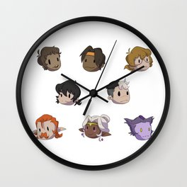 Mini Voltron Wall Clock