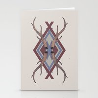 antlers Stationery Cards featuring Antlers by Ben Bauchau