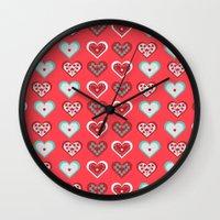 valentine Wall Clocks featuring Valentine by Heaven7