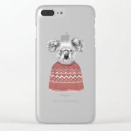 Winter koala Clear iPhone Case