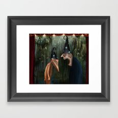Trouble at the Magic Show Framed Art Print