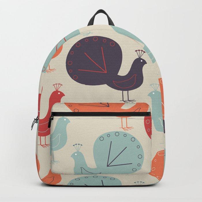 Peacock Pattern Backpack
