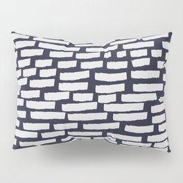 Light Grey Strokes on Dark Blue Pillow Sham