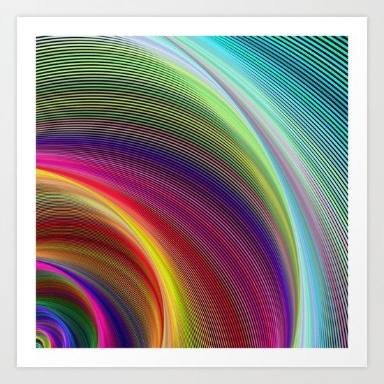 Vortex of colors Art Print