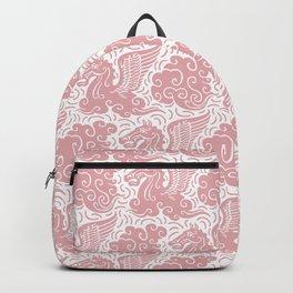Pegasus Pattern Dusty Rose Backpack