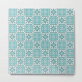 Moroccan Tile Geometric Mandala Metal Print