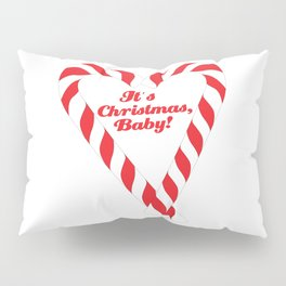 Candy Cane - It's Christmas, Baby! #xmas #christmas #minimal #love #design Pillow Sham