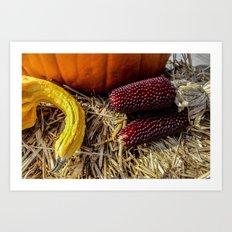 Autumn Still Life (ii) Art Print