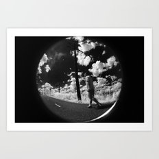 Infrared photography Art Print