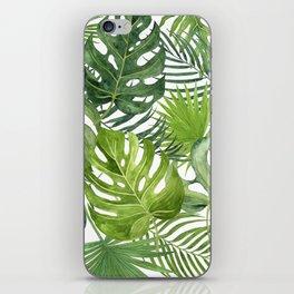 Palm Tree Leaf, Monstera Leaves iPhone Skin