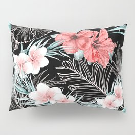 Black & Rose Gold Pink Island Paradise Pillow Sham