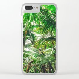 Tropical Canopy Clear iPhone Case