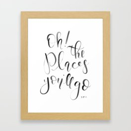Oh! The Places You'll Go! (Dr. Seuss) Framed Art Print