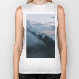 Dolomite Mountains Sunset covered in Clouds - Landscape Photography Biker Tank