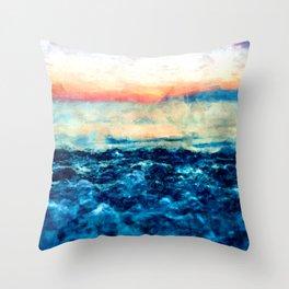 Sea And Sunset Throw Pillow