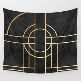 Art Deco Black Marble Wandbehang