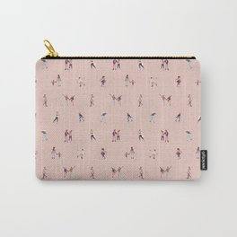 Ice Skaters on Champagne Pink Carry-All Pouch