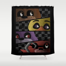 Freddy and Friends are Ready! Shower Curtain