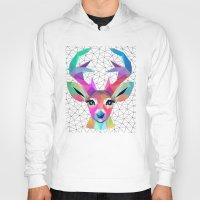 deer Hoodies featuring deer by mark ashkenazi