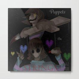 Undertale: Just like puppets on strings Metal Print