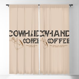 Cowhand Coffee - Rustic Blackout Curtain