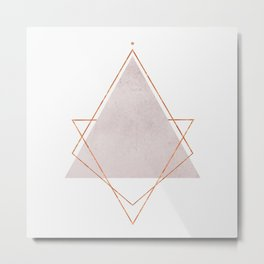 BLUSH COPPER ROSE GOLD GEOMETRIC SYNDROME Metal Print