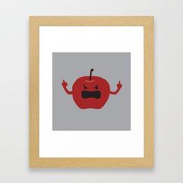 Ultra Angry Apple Framed Art Print