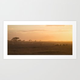 Amboseli, Kenya. Art Print