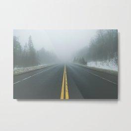 Driving through Fog Metal Print
