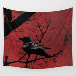 Crow Rust Industrial Red A673 Wall Tapestry