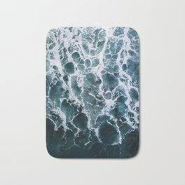 Minimalistic Veins in a Wave  - Seascape Photography Bath Mat