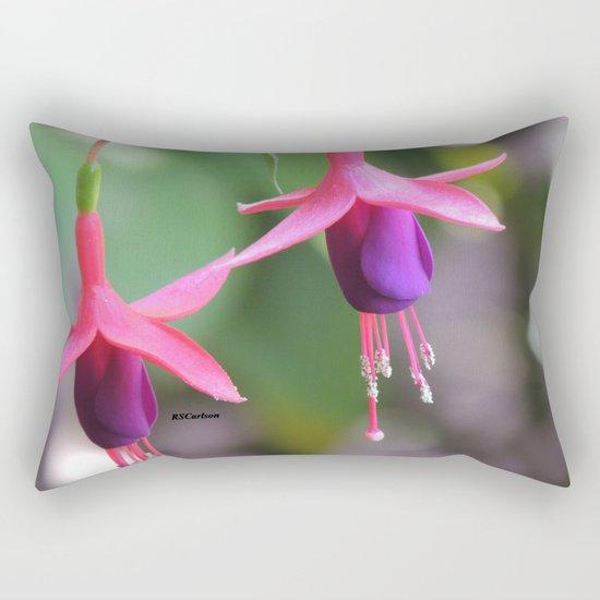 Fuchsia in the Rose Garden Rectangular Pillow